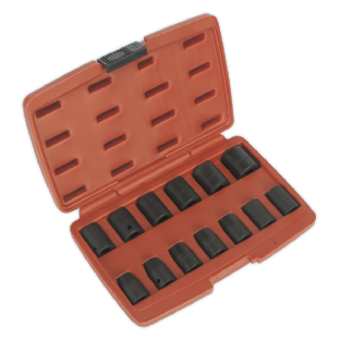 "Sealey AK5613M 13 Piece 1/2""Sq Drive Metric Impact Socket Set"